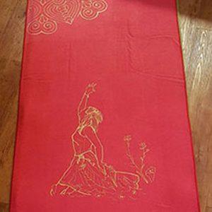 Yogamatten Auflage mit Golddruck
