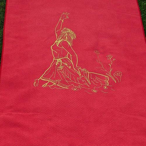 Yogamattenauflage mit Aufdruck - Detail Figur