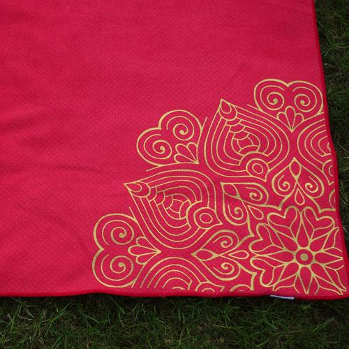 Yogamattenauflage mit Aufdruck - Detail Eckenmandala