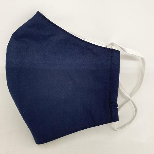 halbseitige Ansicht Nase-Mund-Bedeckung in dunkelblau