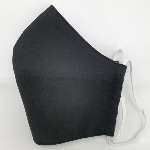 halbseitige Ansicht Nase-Mund-Bedeckung in schwarz