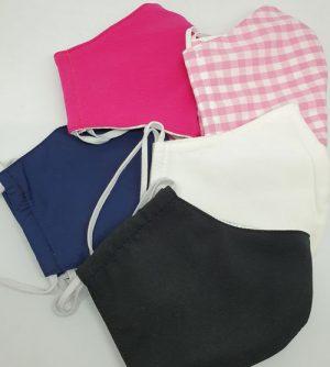 Nase-Mund-Bedeckung halbseitig in verschiedenen Farben