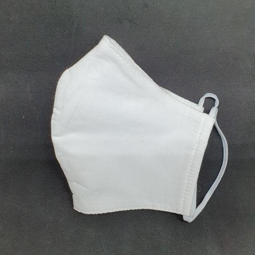 halbseitige Ansicht Nase-Mund-Bedeckung in weiß