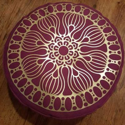 Yogakissen--Mandala--Golddruck-MD02